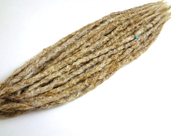 10 Long thin double ended synthetic dreads. Blonde Synthetic dreads, dreadlocks, dreads, synthetic dreadlocks, dreadlock extensions, dread
