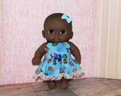 8LC1-72) 8 inch Lil Cutesie Berenguer baby doll clothes, 1 pretty dress with panties