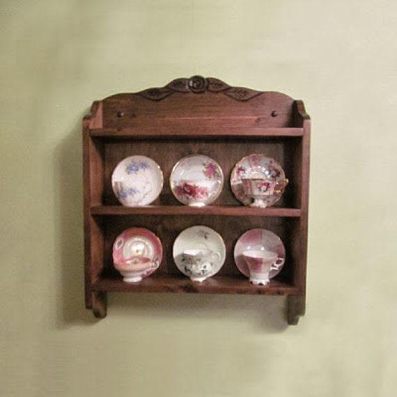 tea cup shelf, Rose