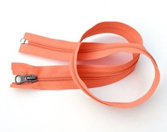 Port & Sort Tote Kit - Light orange zipper+rectangular rings+ invisible snaps