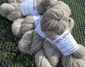 "Alpaca Yarn, Two Ply, Worsted Weight, Undyed, White and Brown Blend, ""White Mocha"""