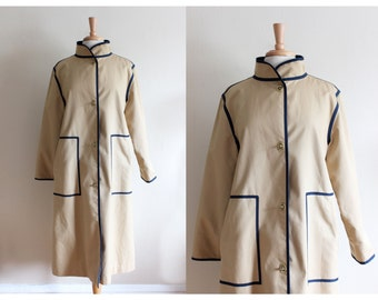 Vintage 1970s Bonnie Cashin Tan Trench Coat / Bonnie Cashin Coat