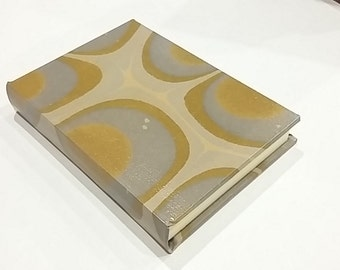 lined marbled paper journal 13,5x10cm