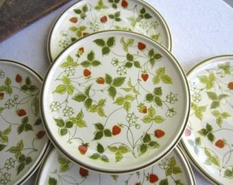 Vintage Mikasa Strawberry Hill Salad Plates set of 4