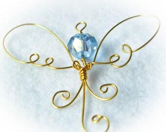 Custom Angel Ornament, Wire Christmas Decoration, Angel Decor, Guardian Angel, Present Topper, Tree Ornament, Angel Gift