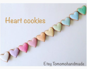 ETSY  Pretend felt food - Play food Easter kids gift  (Heart Cookie set)