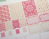 16 Planner Stickers Full Box Half Box Flags Valentine Stickers eclp PS361