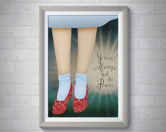 You've Always Had the Power   Wizard of Oz Giclee