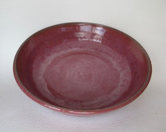 Serving bowl, plum colored