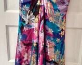 SALE Nicole Miller dress metallic silk summer beach designer size 4