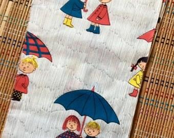 It's Raining Friends--Vintage  Fabric Lot, R