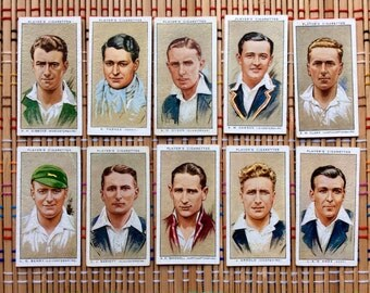 1934 Cigarette Cards, Cricket Players
