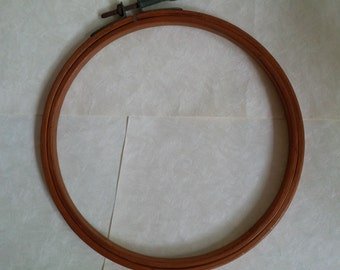 Small size embroidery hoop - Rustic Vintage, dark brown - 6.25 inch circle - great for home decor and craft supply