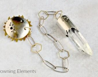 Lemurian Quartz Pendulum