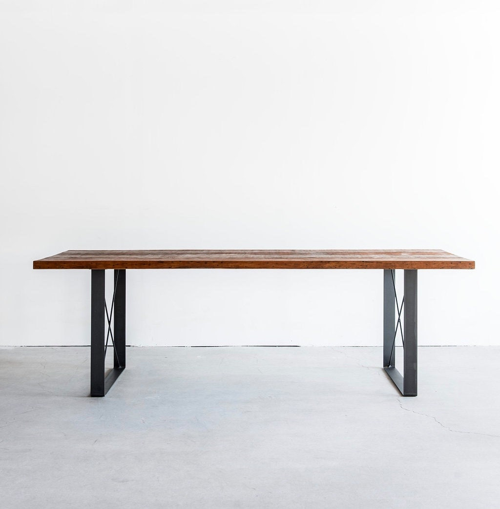 railcar dining table handmade reclaimed wood dining table