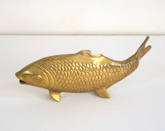 Large Brass Fish Vintage Home Decor