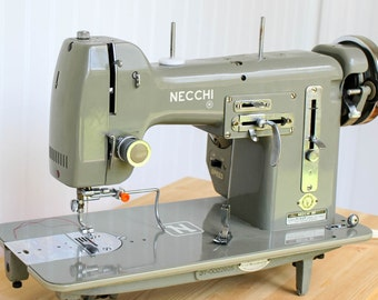 Vintage Necchi BU Mira Sewing Machine, Heavy Duty