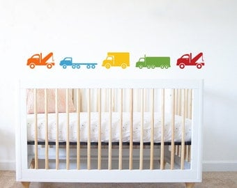 Trucks Nursery Vinyl Wall Decal - Set of 5