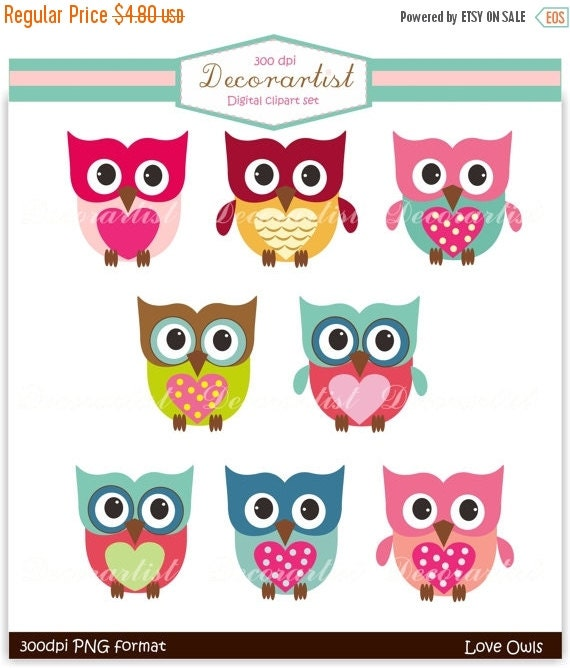 ON SALE Owls clipart. owls, the owls , Owl clipart, personnel and commercial use