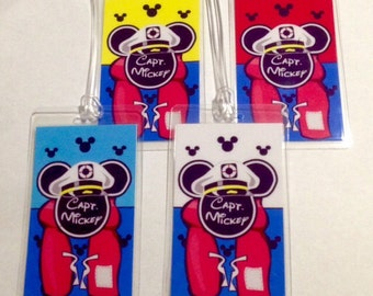 Disney Luggage Tag - Personalized Disney Captain Mickey Cruise Luggage Tags - Perfect Fish Extender Gifts - You Pick the Quantity and Color