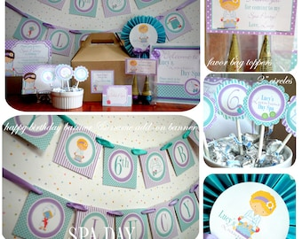 Spa Party Package, DIY, Printable