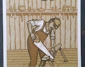 Shovels & Rope Woodcut Poster