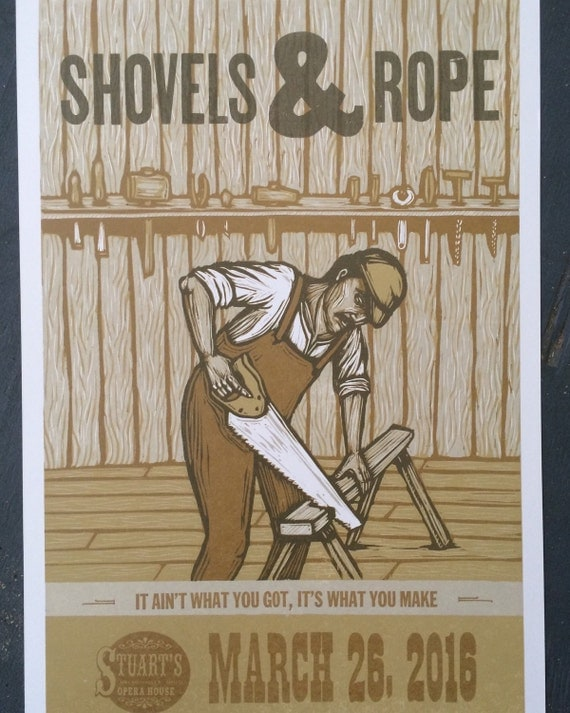shovels rope woodcut poster. Black Bedroom Furniture Sets. Home Design Ideas