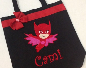 Personalized Tote Bag, Personalized Tote, PJ Masks Bag, PJ Masks Tote, Pj Masks Gift, Personalized PJ Masks, Owlette gift, Pj Mask