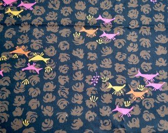 Vintage Fabric - Mid Century Wolf Pack - By the Yard