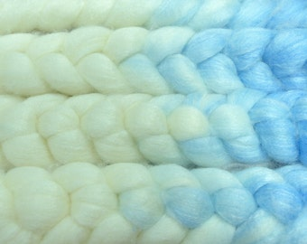 Snow Queen/ Handpainted SW Merino-Bamboo-Nylon Combed Top/ 4 oz.