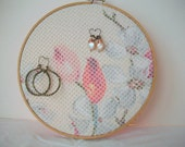 Earring storage solution Embroidery hoop jewelry organizer See all earrings at one glance Earring keeper Earring holder