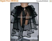 Unique Victorian Black Mesh Bustle Fishtail French Tie on adjustable Size LONG Under skirt Steampunk