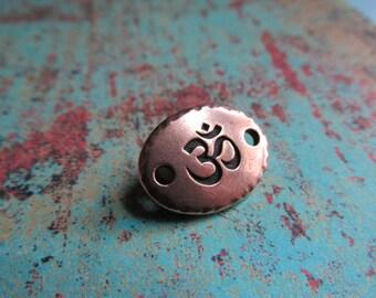 Copper Om Link, Om Link, Om Bracelet Link, Yoga Jewelry, Word Beads, Words, OM, sound of the earth, Yogi, Yoga, Om symbol