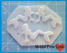 SALE Set of 3 Mermaid  Mudflap Pin Ups Handmade Plastic Resin  Mold