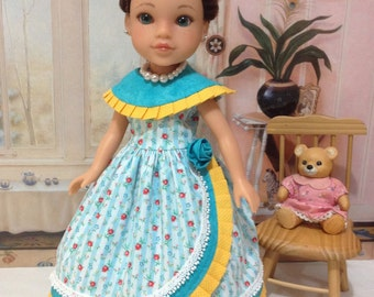 """Hearts 4 Hearts """"Heavenly Bliss"""" gown, petticoat, necklace, and hairbow fits H4H doll"""
