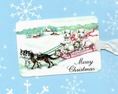 Christmas, Gift Tags, Dogs, Merry Christmas Tags, Kittens, Dog Gift Tags