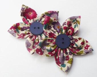 frou frou  fabric flower x2