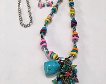 Boho Bright Necklace and Earring Set
