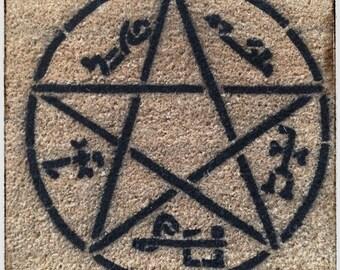 Devil's Trap Supernatural Pentagram satan doormat