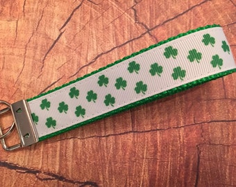 St. Patrick's Shamrock Key Fob Wristlet Style