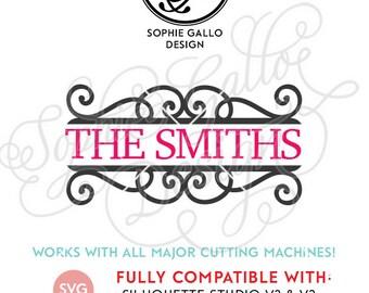 Simple Flourish Split Scroll SVG, DXF, PNG digital download files Silhouette Cricut, vector graphics Vinyl Cutting Machines, Screen Printing
