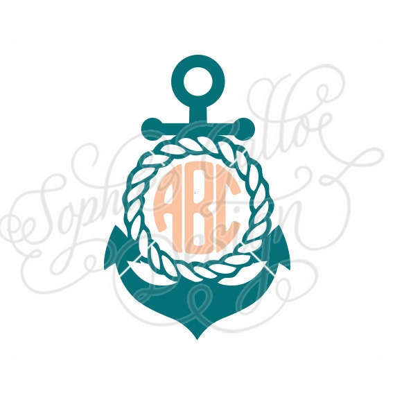 Rope Anchor Frame SVG DXF PNG Digital Download Files For