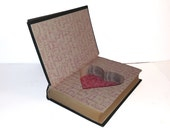 Hollow Book Safe Their Yesterdays heart shape ring box wedding Cloth Bound vintage Secret Compartment Security hiding place