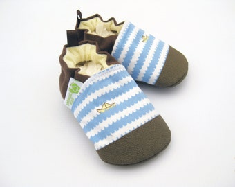 SALE Classic Vegan Row Your Boat / Non-Slip Soft Sole Baby Shoes / Made to Order / Babies Toddlers Preschool