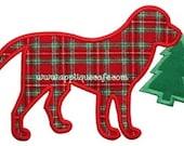 892 Christmas Dog 3 Machine Embroidery Applique Design