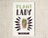 Enamel Pin - Crazy plante Lady