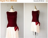 25% OFF SALE... Vintage 1960s Dress | 60s Party Dress | Velvet Cocktail Dress | 60s Lace Dress | Vintage Valentines Dress