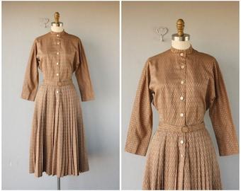 50s Shirtwaist Dress | Vintage 1950s Day Dress | 50s Dress | 1950s Dress | 50s Cotton Dress | 1950s Belted Dress | Vera Maxwell Dress