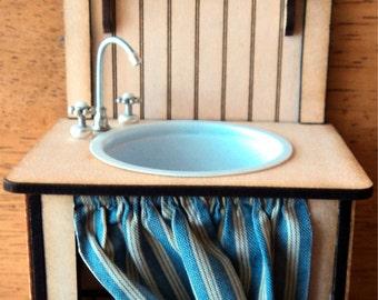 Dollhouse miniature 1/12th scale sink kit