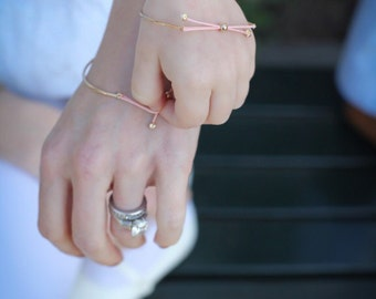 14K Gold Baby, Toddler, Girls Bow Tie Bracelet - Size Customizable